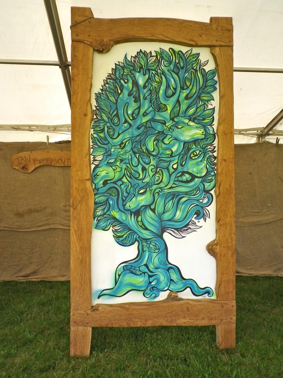 5 picture in oak frame