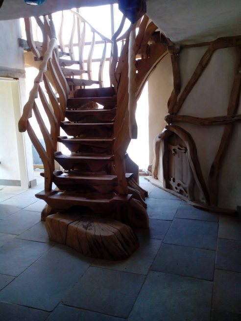 Oak and Cedar Staircase Project