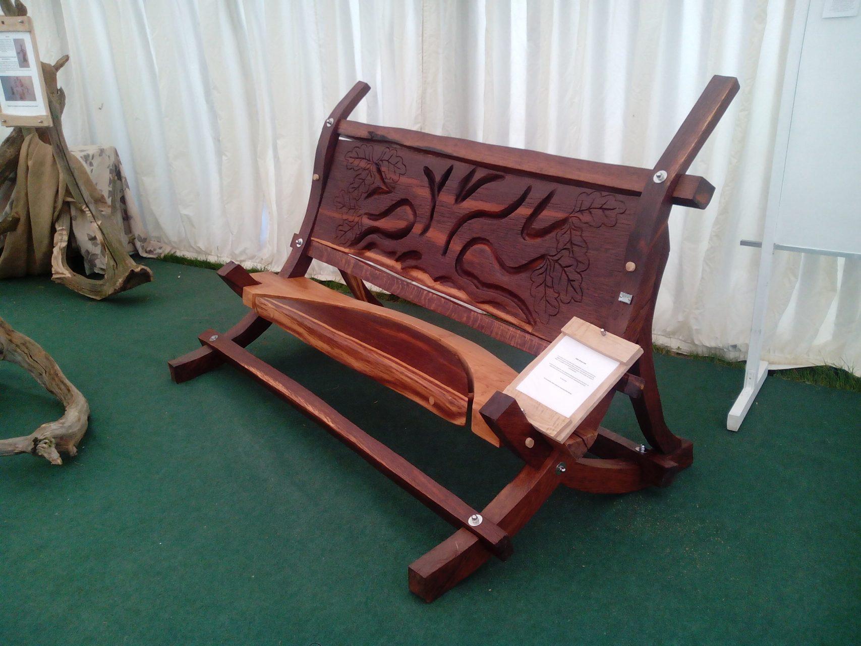 brown oak bench 2
